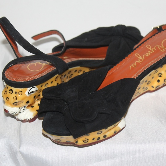 987c1d0d7bf8 Charlotte Olympia Shoes - CHARLOTTE OLYMPIA PANTHERA ENAMEL SUEDE WEDGE